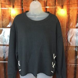 aerie  laced up side Sweatshirt